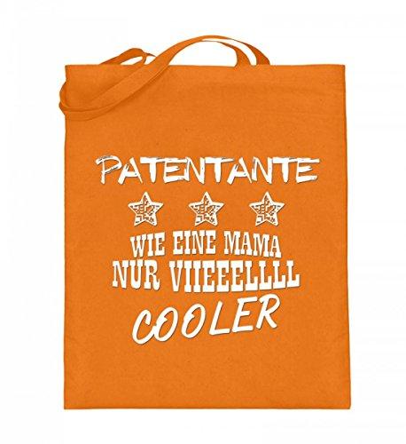 Borsa In Juta Di Alta Qualità (con Manici Lunghi) - Brevettata Viieeellll Cool Medium Orange