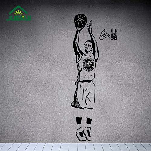ljradj Basketball Superstar Wandaufkleber Für Jungen Schlafzimmer Vinyl Wasserdicht SchießenWandtattoosWohnzimmerWohnkultur 158X58 cm