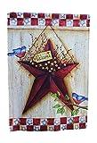 Primitiv Americana Decor doppelseitig Barn Star House Flagge, Patriotische Farben; 71,1cm von 101,6cm