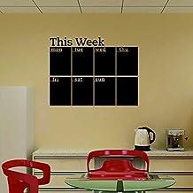 Pegatina de pared adhesivo calendario semanal de pizarra
