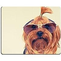 Mousepads Yorkshire terrier-Occhiali da sole, colore: rosa, looking at immagini ID by 37040264 Liili personalizzato Mousepads resistenza alle macchie Collector-Kit da cucina da tavolo Drink personalizzato resistenza alle macchie Collector-Kit da cucina, da