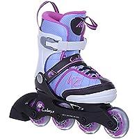 K2 Skates Kinder Inline Skates Cadence - Lila-Pink - ABEC 3 Kugellager Softboot - Größe Verstellbar - EU 29-34 / S
