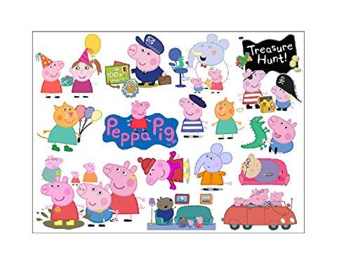 Hot 2016. Peppa Pig Family Auto Wandtattoo-A Lovely Stimme geben bis Kinder Schlafzimmer Wand, Größe 60x 45cm