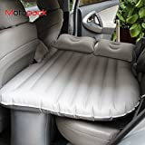 #8: Motopack Multifunctional Inflatable Car Bed Mattress for Rest,Car Travel Inflatable Mattress Air Bed Cushion Camping Universal SUV Extended Air Couch with Two Air Pillows (Light Grey)