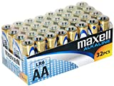 Maxell LR03 AAA Batteries AA Pack de 32 pilas Golden