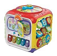 Un cube multi-activités pour faire le plein de découvertes et amuser bébé pendant des heures. 6 activités amusantes : Un livre interactif, des touches de piano, une aiguille à faire tourner, un trieur de forme, des engrenages et des animaux mobiles. ...