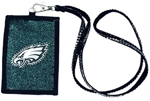 Philadelphia Eagles Beaded Lanyard Wallet