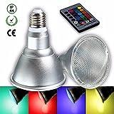 Pegasus E27 8w dimmable par30 rgb LED couleur de la lumière changeant ampoule spot lampe de rechange télécommande ac85-265v...
