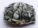 Hebilla de cinturón de metal, diseño de lobo Wolf Belt buckle 47