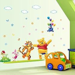 Gadfly- Flying Donkey and Winnie the Pooh Peel & Stick Nursery/baby Wall Sticker Decal