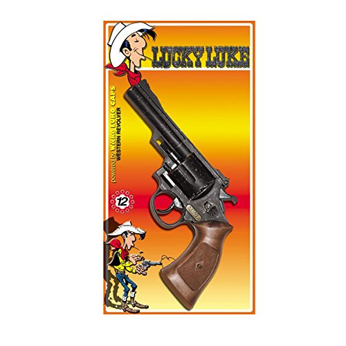 PARTY DISCOUNT Neu Pistole Lucky Luke, Used-Look, 12-Schuss