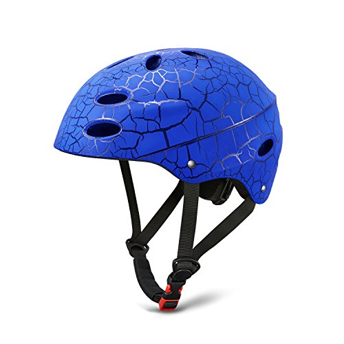 Kuyou Childs Helmet With Adjustable Size ABS Shell for Skateboard Ski Skating Roller Protective Gear Suitable Kids and Youth 3 Size
