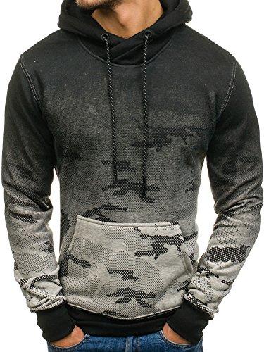 BOLF Herren Pullover mit Kapuze Sweatshirt Langarmshirt Sweatjacke Militär  Army Camo Muster 1A1 GrauDD1321 ffce16fb0b