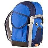 Affenzahn Schulrucksack Kinderrucksack Kitarucksack mit Brustgurt für 3-5 jährige Jungen und Mädchen im Kindergarten Walki Woody Wuff - Blau