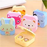 Perfect for putting Contact lens care products. Suitable for using during travelling or outdoor activity. Small and easy to carry, keeping your contact lens clean and clear. Cute Cartoon Animal design, fashion and portable. Great gadget for traveling...