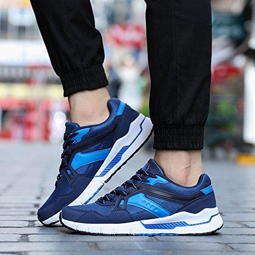 Fexkean Scarpe da Sportive Ginnastica Corsa Basse Running Walking Fitness Casual Respirabile Mesh da Uomo Donna 35-46 Blue