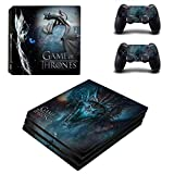 Skin Sticker - PS4 Pro Skin Sticker pour Sony Playstation 4 Pro Console & Controllers Skins - Game of Thrones pour PS4 Slim Skin, PS4 Pro Skin, Ps4 Skin Sticker A202