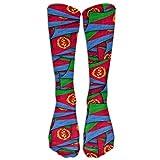 jiilwkie Eritrea Flag Wave Collage Compression Socks Soccer Socks High Socks Long Socks 60cm