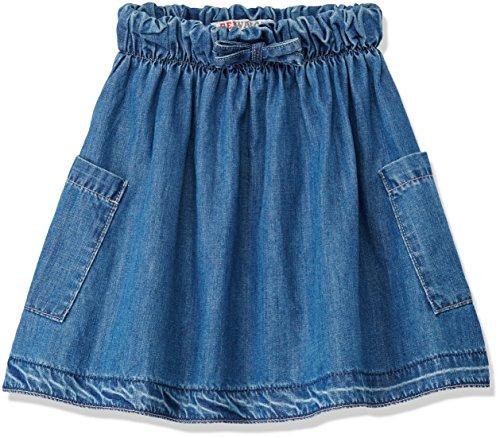 RED WAGON Mädchen Rock Frayed Denim Skirt, Blau (Blue), 122 (Herstellergröße: 7 Jahre) (Denim Blau Sandalen)