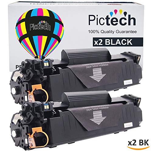 Pictech cartuchos de tóner compatibles con de repuesto para HP CB435A, 35A/CB436A, 36A/CE278A, 78A/CE285A, 85A