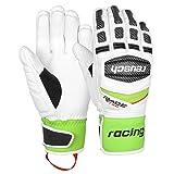 Reusch Racing guanti da sci Race-Tec 16, Bianco/Verde Neon, 8, 10,5
