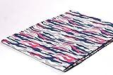 Jersey Stoff gemustert als Meterware |Muster: Camouflage pink/blau|50cm x 160cm|92% Baumwolle, 8% Elasthan|Mehrere Farben zur Auswahl|Jersey|1buy3