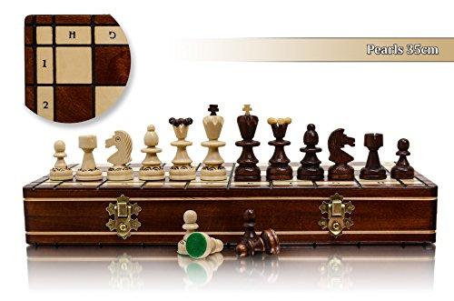 Einzigartige PEARL 35cm / 14in Süße Kirschbaum Schach-Spiel, Handcrafted klassische Spiel