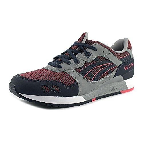 ASICS Men's Gel-Lyte III Medium Grey/Guava Running Shoe 8.5 Men US