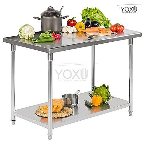 Plan de travail Banc de travail table professionnelle Acier inoxydable cuisine restauration sans bord 180x70x85 cm