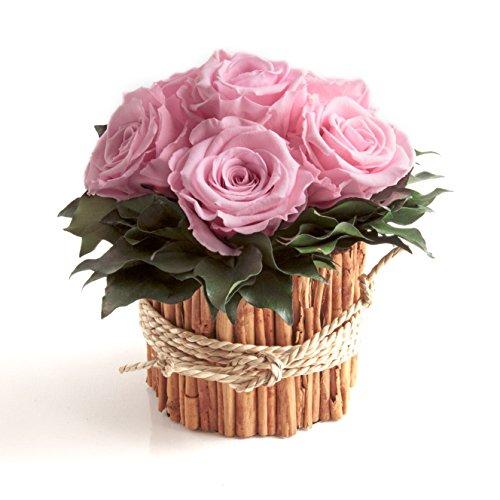 Rosengesteck 6 konservierte Rosen lang haltbar 3 Jahre / Blumengesteck / Bauernhaus / Blumen Deko / Tisch von ROSEMARIE SCHULZ® Heidelberg (Rosa)