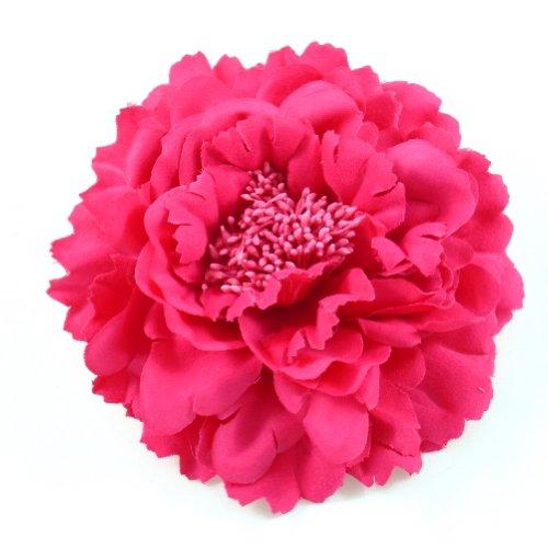 rougecaramel - Accessoires cheveux - Broche fleur / pince cheveux mariage 11cm - fuchsia