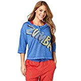 Zumba Damen Power Baseball Tee L So Into Blue