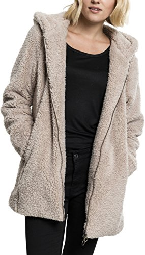 Urban Classics Damen Ladies Sherpa Jacket Kapuzenpullover, sand, S -