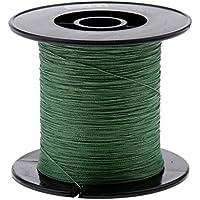 Dolity Línea de Pesca Sedal Duradero Carrete Protección 300M 0.16mm 20LB PE Pescador de Color Verde Oscuro