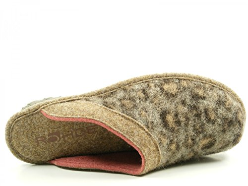Rohde Ladies Slipper 2268-85 brouillard gris, Gr. 38-40, Softfilz Braun