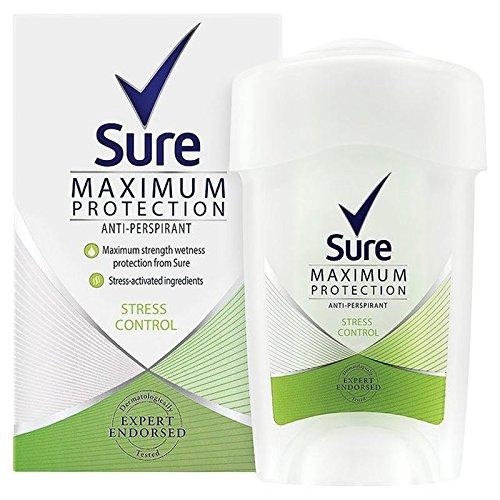 Sicuro Che Le Donne Massima Stresscontrol Protezione Anti-Traspirante Crema Deodorante 45Ml (Confezione da 6)
