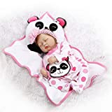 SYP 22 Zoll 55CM Puppe Reborn Babys Toddler lebensecht Kinder Mädchen silikon Vinyl schlafend doll...