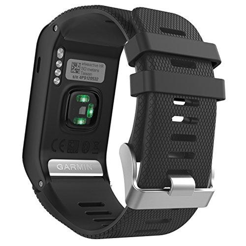 MoKo Garmin Vivoactive HR Correa de Reloj, Suave Silicona Reemplazo Watch Band...