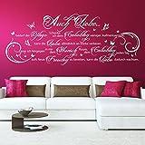 Wandtattoo Auch Liebe bedarf der Pflege... | Spruch, Zitat für Paare | Schlafzimmer Grün 061 126 x 48 cm