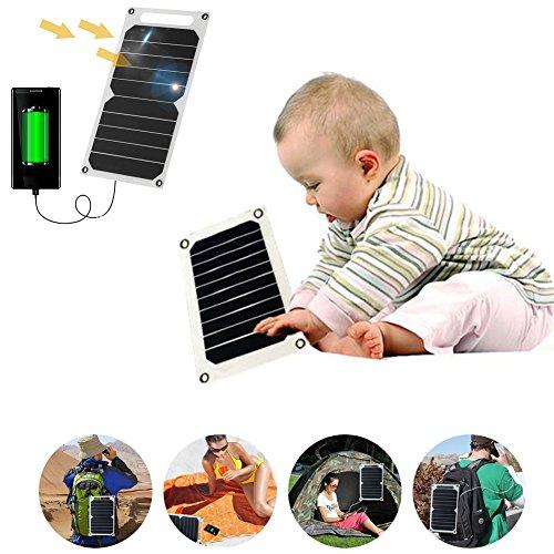 GEZICHTA Solar Ladegerät, 1200mA Tragbares Solar Power Bank Panel Notfall-Ladegerät für Handy Power Tablet Pad und Andere Tragbare Digitale Geräte.