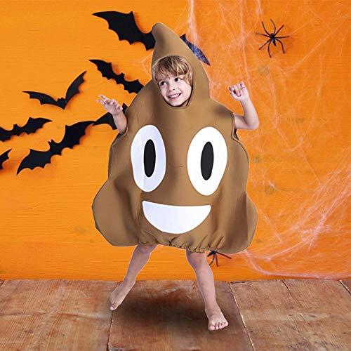 Adult Funny Best Kostüm - kaersishop Emoji Poop Sponge Kostüm, Adult Emoticon Poop Kostüm Braun, Poop Emoji Kostüm Adult Funny Face Unisex Emoticon Kostüm