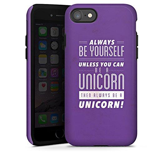 Apple iPhone X Silikon Hülle Case Schutzhülle Einhorn Unicorn Sprüche Tough Case glänzend