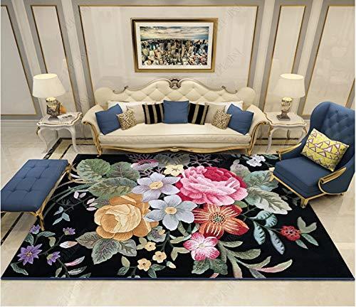 Modernes minimalistisches nordisches Haus 120 * 160 cm GT357,Moderner Wohnzimmer Retro Baumwoll-Teppich mit Quaste Eingang Dünne Bodenmatte Handgewebt Teppichläufer rutschfest für Wohnzimmer Schlafzi