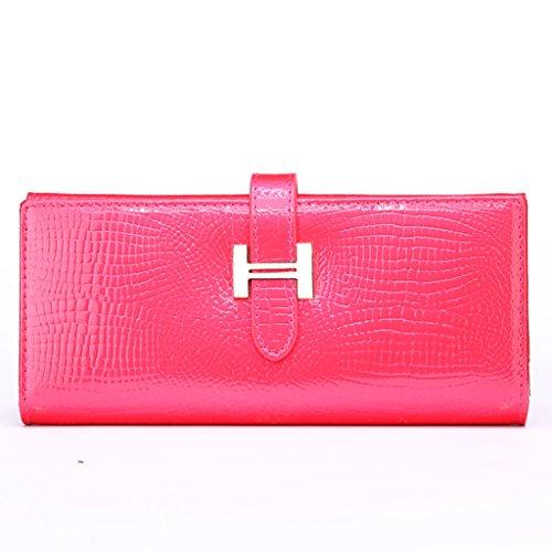 CLOTHES- L'Europa e gli Stati Uniti Lady Wallet Portafoglio Multifunzionale Portafoglio Multifunzionale Portafoglio ( Colore : Oro ) Rose red