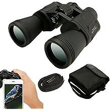 Binoculares 20 x 50, SGODDE Binoculares de Ampliación, Zoom Impermeable Ultra HD FM para la Observación de Aves Paisaje de Caza de Fútbol con Tragetasche Correa de Tela Limpia