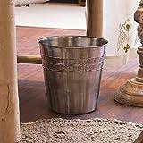 """The Décor Mart Stainless Steel Plain Open Dustbin/ Plain Garbage Bin, Silver, 6 ltr ., 7"""" x 10"""" (Long Life & Eco Friendly Trash Bin)"""