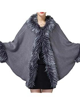 Señora Otoño E Invierno Suelta Con Capucha Hecha Punto Chaqueta De Abrigo Chaqueta Mujer Chaqueta