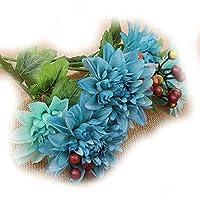 Lorjoy Flor Artificial Artificial de Boda de Flores Decoración Ramo de Flores de Seda de la