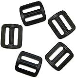 Schieber Stopper 15 mm Kunststoff schwarz Verschiedene Mengen. (5 Stück)