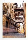 Eau Zone Home Bild - City – Gasse in Barcelona Spanien- Poster Fotodruck in höchster Qualität